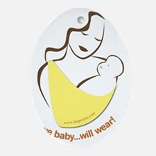 Wear your Baby Oval Ornament