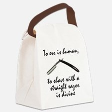 To err is human working Canvas Lunch Bag