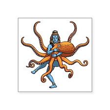 "octo-goddess-T Square Sticker 3"" x 3"""