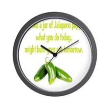 Jalapeno_burn_whgt Wall Clock