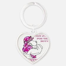 Team Estrogen Heart Keychain
