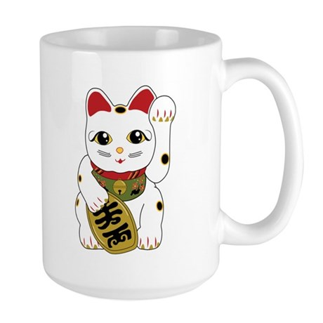Maneki Neko Cat Large Mug