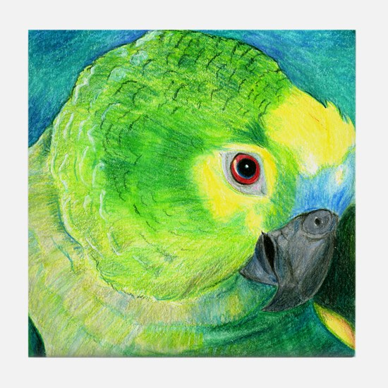 Blue-Fronted Amazon Tile Coaster