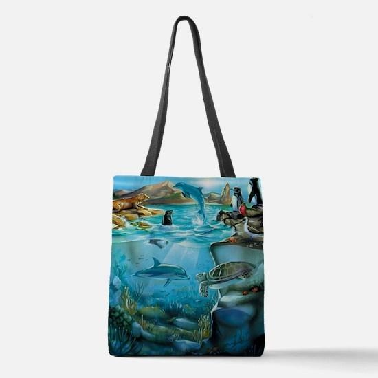 Galapagos Animals Polyester Tote Bag