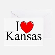 """I Love Kansas"" Greeting Cards (Pk of 10)"