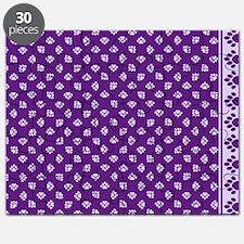 PawprintPCDeepPurpWLtPurple Puzzle