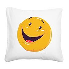 happy3 standard Square Canvas Pillow
