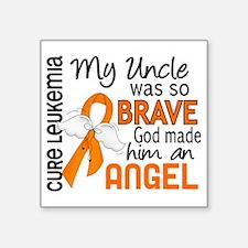 "D Angel 2 Uncle Leukemia Square Sticker 3"" x 3"""