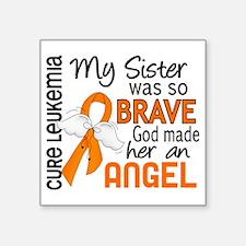 "D Angel 2 Sister Leukemia Square Sticker 3"" x 3"""