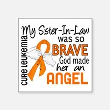 "D Angel 2 Sister-In-Law Leu Square Sticker 3"" x 3"""