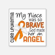 "D Angel 2 Niece Leukemia Square Sticker 3"" x 3"""