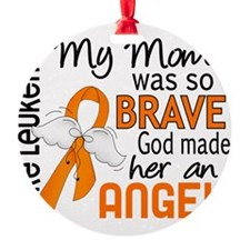 D Angel 2 Mom Leukemia Ornament
