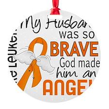 D Angel 2 Husband Leukemia Ornament