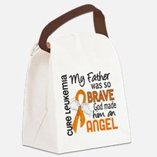 D Angel 2 Father Leukemia Canvas Lunch Bag