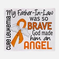 D Angel 2 Father-In-Law Leukemia Throw Blanket