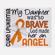 D Angel 2 Daughter Leukemia Throw Blanket