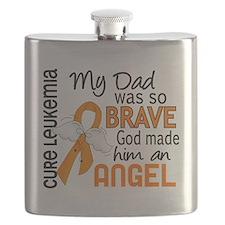 D Angel 2 Dad Leukemia Flask