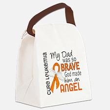 D Angel 2 Dad Leukemia Canvas Lunch Bag