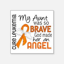 "D Angel 2 Aunt Leukemia Square Sticker 3"" x 3"""