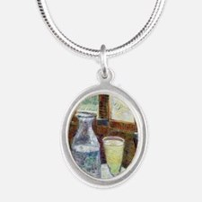 NC VG Absinth Silver Oval Necklace