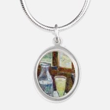 GC VG Absinth Silver Oval Necklace
