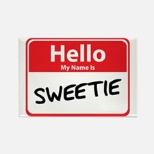 Hello My Name is Sweetie Rectangle Magnet
