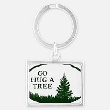 Go Hug A Tree Landscape Keychain