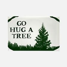 Go Hug A Tree Rectangle Magnet