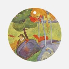 Rural France, Gauguin Round Ornament