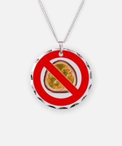 Stop Passion Fruit Allergies Necklace Circle Charm