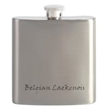 belgian laekenois white Flask