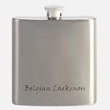 belgian laekenois white Flask