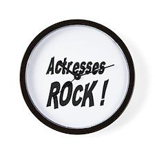Actresses Rock ! Wall Clock