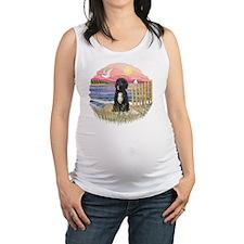 PinkSunset-PWD5bw Maternity Tank Top