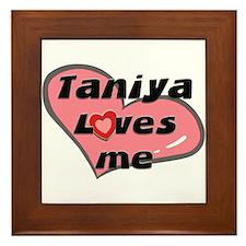 taniya loves me  Framed Tile