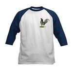 Blue OE Cock Kids Baseball Jersey