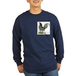 Blue OE Cock Long Sleeve Dark T-Shirt