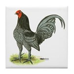 Blue OE Cock Tile Coaster