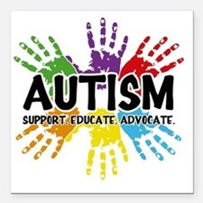 "Autism Square Car Magnet 3"" x 3"""