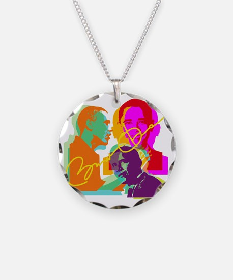 obama-multi Necklace Circle Charm