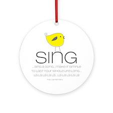 sing Round Ornament
