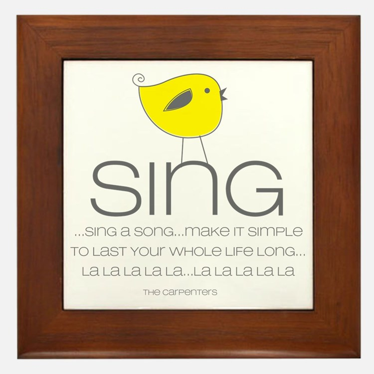 sing Framed Tile