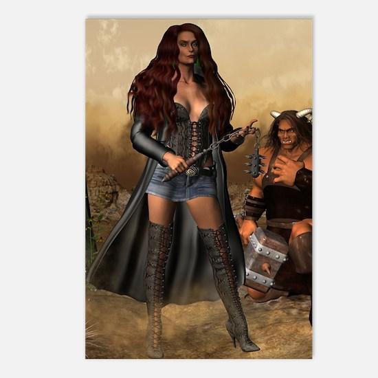 Goddess_Angreboda_notecar Postcards (Package of 8)