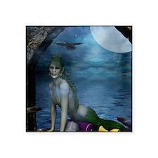 "MERMAIDS_Mermaid_At_The_Win Square Sticker 3"" x 3"""