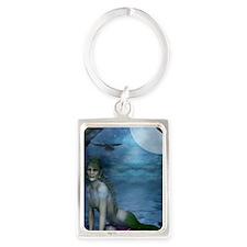 MERMAID_Mermaid_At_The_Window_jo Portrait Keychain