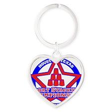 Texas Championship 1 Heart Keychain