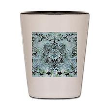 BeeFloralBluQduvet Shot Glass