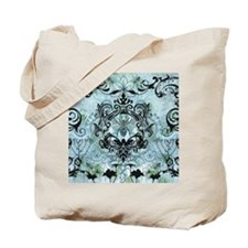 BeeFloralBluQduvet Tote Bag