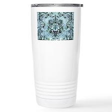 BeeFloralBluPiloHz Travel Mug