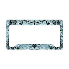 BeeFloralBluPiloHz License Plate Holder